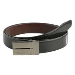 Titan Black-Brown Leather Belt For Men-TB160LM1R2X
