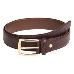 Titan Burgundy Leather Belt For Men-TB168LM1BYM
