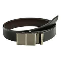 Titan Black-Brown Leather Belt For Men-TB171LM1R2X