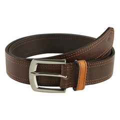 Titan Brown Leather Belt for Men-TB173LM1BRM