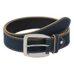 Titan Blue Leather Belt for Men