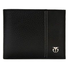 Titan Black Wallet for Men TW109LM1BK