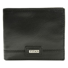 Titan Black Leather Wallets for Men