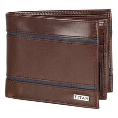 Titan Leather Brown Wallets for Men-TW160LM1BR