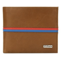 Titan Leather Tan Wallets for Men-TW167LM1TN