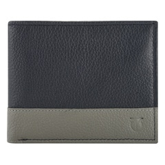 Titan Leather Blue Wallets for Men-TW175LM1BU