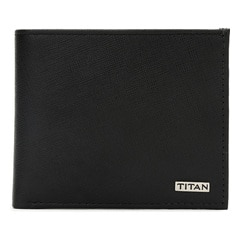 Titan Leather Black Wallets for Men-TW178LM1BK