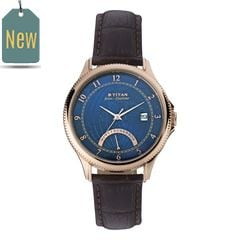 Titan Globe Trotter Blue Dial Analog Dual Time Watch for Men