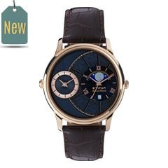 Titan Globe Trotter Blue Dial Dual Time with Moon Phase Watch for Men