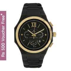 Titan Black Dial Chronograph Watch for Men