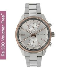 Titan Neo Silver-White Dial Analog Watch for Men