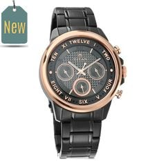 Titan Regalia Sovereign Black Dial Chronograph Watch for Men