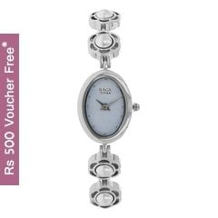 Titan Raga Aurora Light Blue Dial Analog Watch for Women