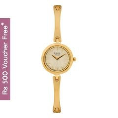 Titan Raga Foliage Champagne Dial Analog Watch for Women-2553YM02