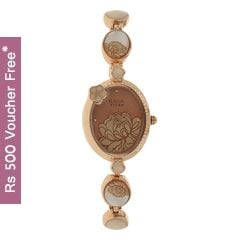 Titan Raga Aurora Peach Dial Analog Watch for Women