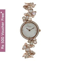 Titan Raga Moonlight MOP Dial with Floral Strap Analog Watch for Women-95030WM01J