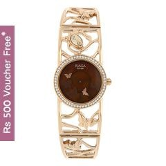 Titan Raga Aurora MOP Brown Dial Analog Watch for Women