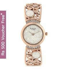 Titan Raga Aurora Pearl White Dial Analog Watch for Women