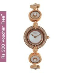 Titan Raga Moonlight Bronze Strap Analog Watch for Women-9903WM01J