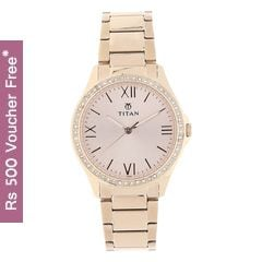 Titan Rose Gold Dial Analog Watch for Women