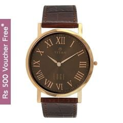 Titan BROWN Dial Analog Watch for Men