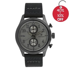 Titan Grey Dial Analog Watch For Men-90052QL01J