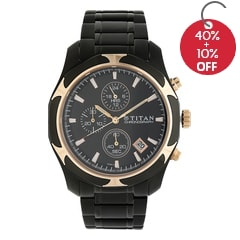Titan Black Dial Multifunction Watch for Men