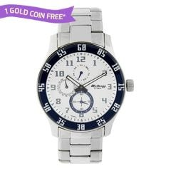 Titan Silver Dial Multifunction Watch for Men