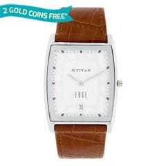 Titan Edge White Dial Watch with Date function for Men
