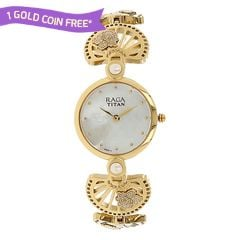 Titan Raga Aurora MOP Beige Dial Analog Watch for Women