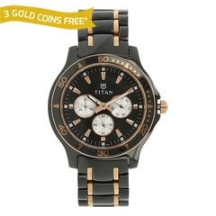 Titan Black Dial Analog With Day Watch for Men - 90020KD02J