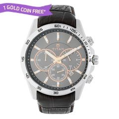 Titan Grey Dial Analog Watch for Men