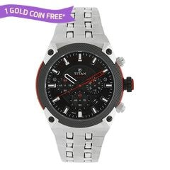 Titan Black Dial Analog Watch For Men-90030KM01