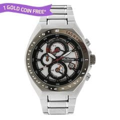 Titan Octane Chronograph White Dial Watch for Men-90048KM01J