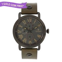 Titan Grey Dial Analog Watch For Men-90049QL01J