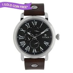 Titan Green Dial Analog Watch For Men-90049SL02J