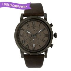 Titan Grey Dial Analog Watch For Men-90050QL02J