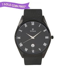 Titan Black Dial Analog Watch for Men