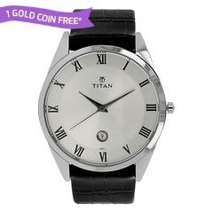 Titan Classique Silver Dial Analog Watch for Men
