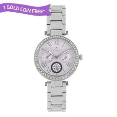 Titan Purple Lilac Dial Bezel Studded Multifunction Analog For Women-95023SM02J