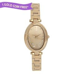 Titan Purple Rose Gold Studded Dial Analog Watch for Women-95025WM01J