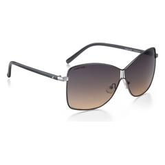Fastrack Travellers Shiny Dark Brown Full Rim UV Protected Trendy Women's Sunglasses