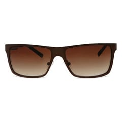 Brown Fastrack Rectangle Sunglasses for Men M144BR2