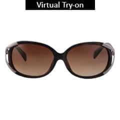Titan Eye Plus Glares Polycarbonate Acetate Patterned Black & Burgundy Sunglass for Women-G020CVFL9F