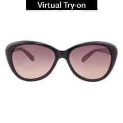 Titan Eye Plus Glares Polycarbonate TR9 Shiny Black Sunglass for Women-G206CTFLMC