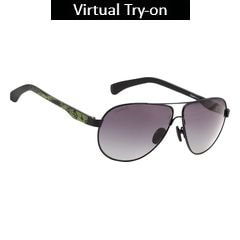 Fastrack Black Pilots Sunglass For Men-M133BK1