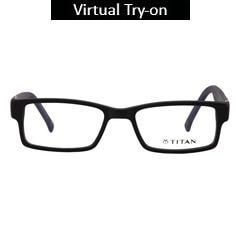 Titan Eye Plus Others Rectangle Frames for Unisex-T2193B1A1