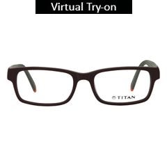 Titan Eye Plus Others Rectangle Frames for Unisex-T2194A1A1