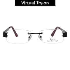 Titan Eye Plus Rimless Rectangle Frames for Unisex-TR1020D1A1
