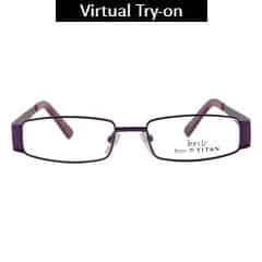 Titan Eye Plus Full Rim Rectangle Frames for Men-TR1041C1A1
